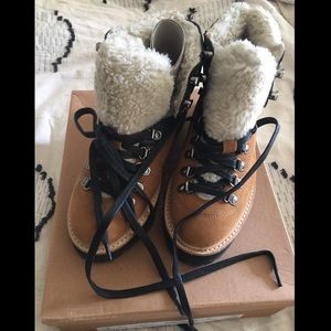 Urban Outfitters Bailey Sherpa Hiker / Hiking Boot